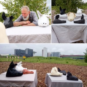 Pigs and Man interactive sound installation