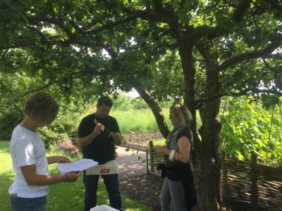 Sam Van Aken collecting cuttings for Tree of 40 Fruits workshops